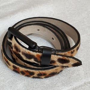 NWOT Leather Animal Print Belt (S) #647